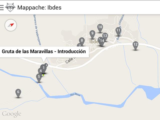 Mapa ruta Mappache Ibdes