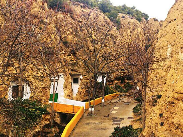 Barranco con cuevas utilizadas como vivienda (Valtierra).