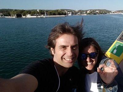 Javi y Olga en Menorca