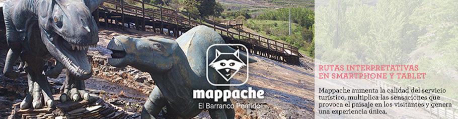 Portada de la aplicación audioguia El Barranco Perdido. Enciso, La Rioja.