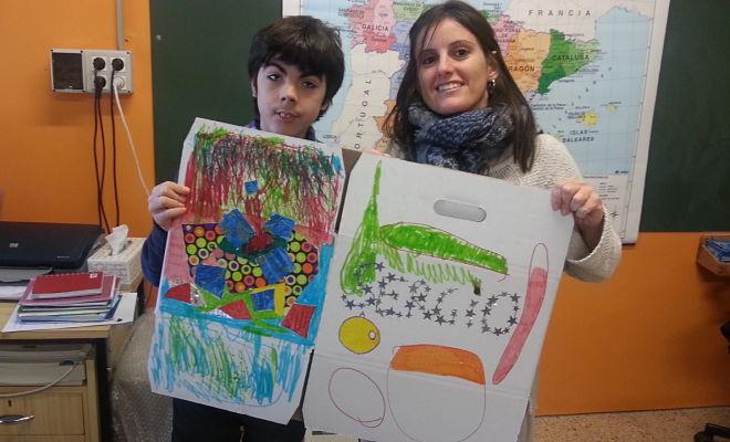Pinturas de los niños de San Martín