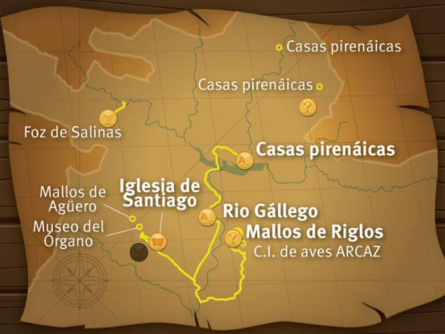 Pantallazo de uno de los mapas de la aplicación