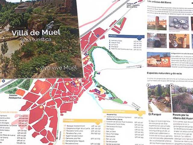 Montaje del folleto Muel