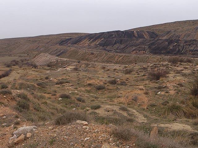 Escombrera de la zona a prospectar