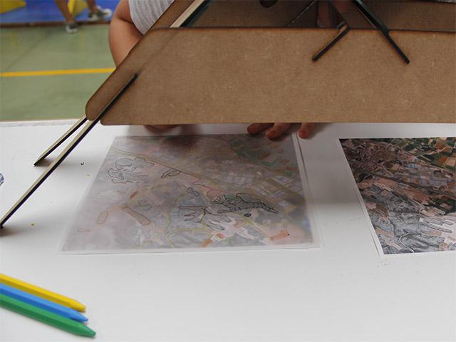 Realización mapa con estereoscopio