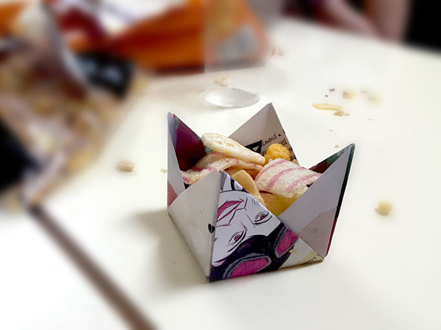 Origami para aperitivos