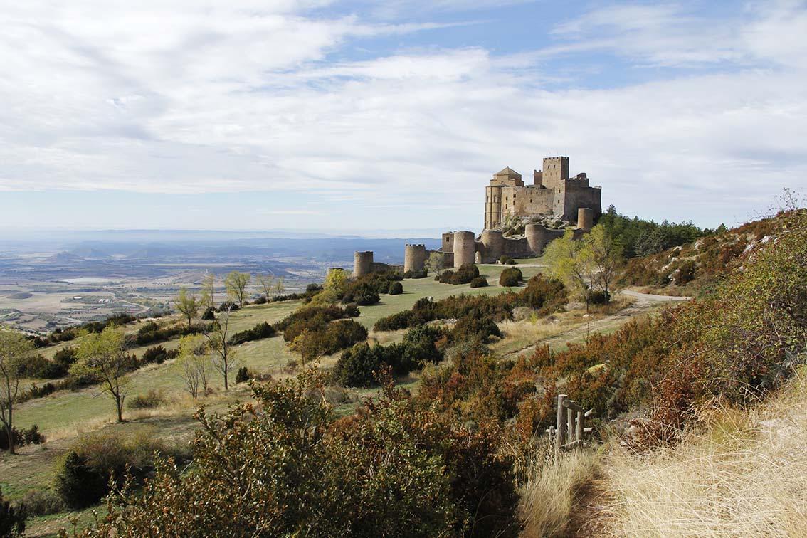panorámica del castillo de Loarre