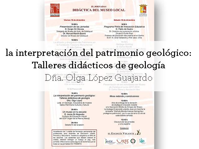programa de conferencias de las IX jornadas de didáctica del museo local
