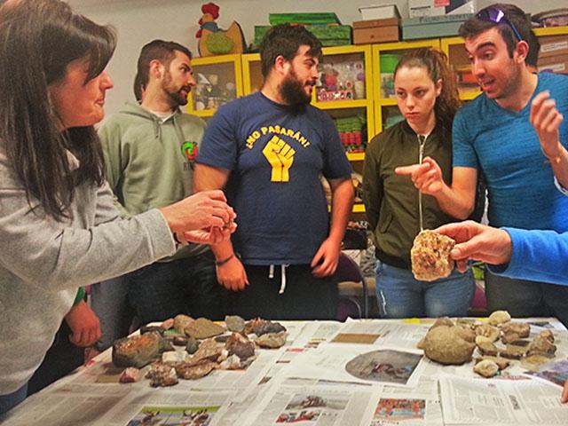 curso de guias de naturaleza y patrimonio geologico impartido por qeteo en daroca, Teruel, Aragon