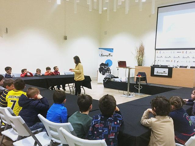 taller con niños en el museo aquagraria, Ejea de los Caballeros, Zaragoza
