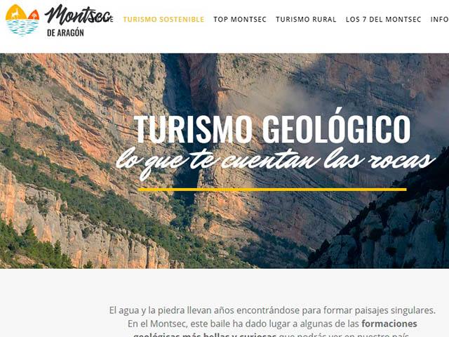 captura de pantalla de la página web del montsec de Aragón