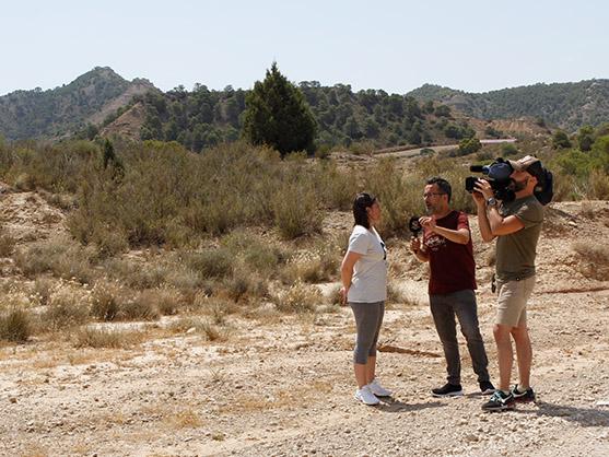 Entrevista de Aragón Televisión en el viaje de familiarización de Turismo Geolgico de Aragón