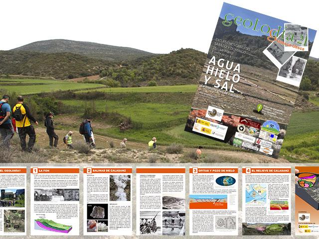 Grupo de participantes en la excursión del Geolodía de Huesca en Calasanz
