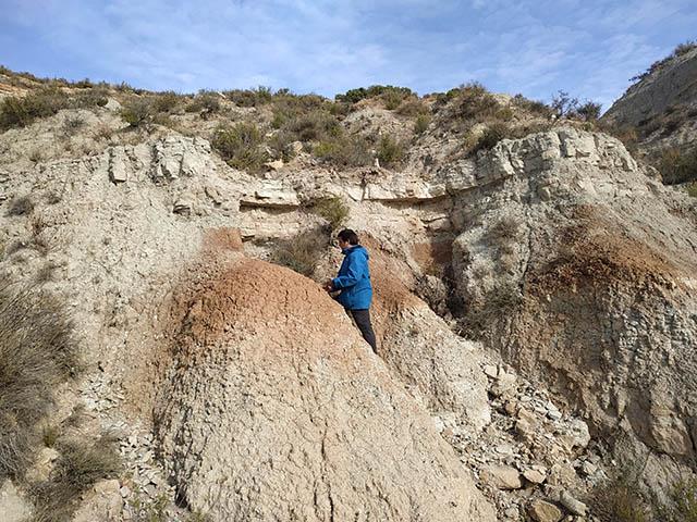 geólogo realizando trabajo de campo